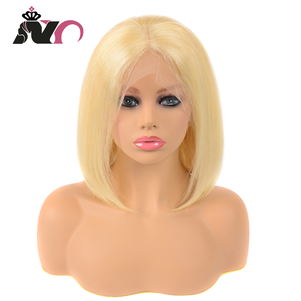NY 613 Straight Short Bob 13*4 Lace Front Wig Remy Hair Honey Blonde Lace Front Wigs Brazilian 100% Human Hair Wigs For Woman