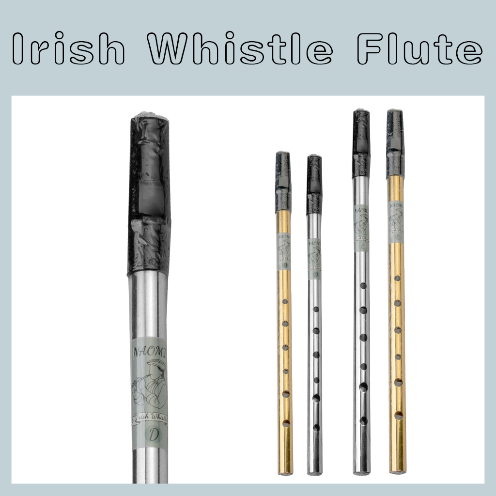 LOOK MUSIC Brass Irish Penny Whistle Key of C Key of D Tin Whistle Traditional Flute
