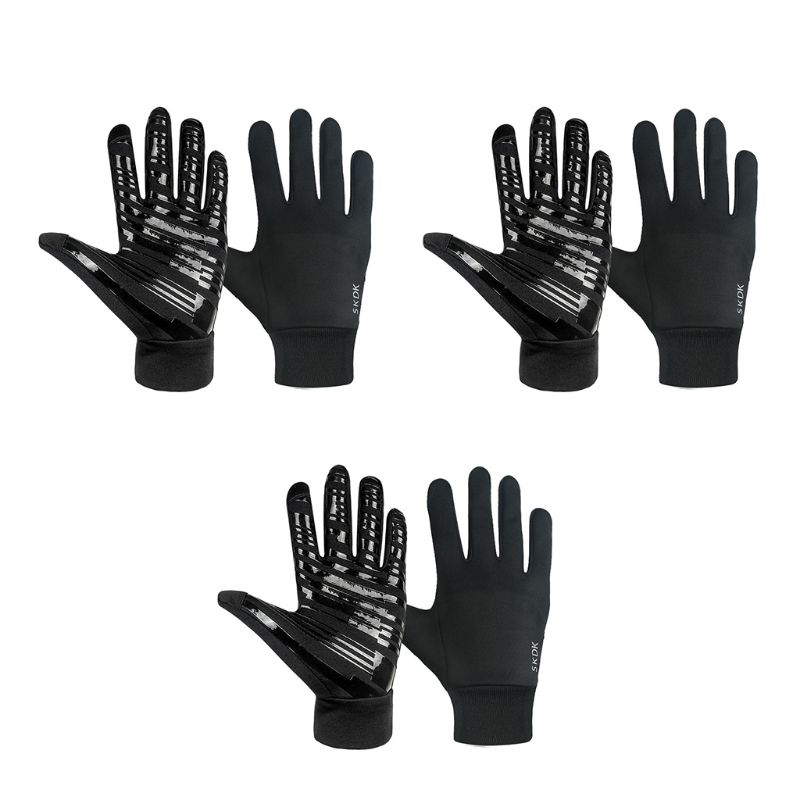 Men Women Winter Touch Screen Gloves Anti-Slip Palm Silicone Windproof Mittens
