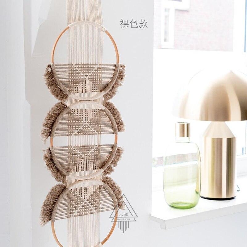 100% ручной работы творческое, настенное плетеное гобелен Скандинавское украшение домашний Ловец снов украшение для дома - 3