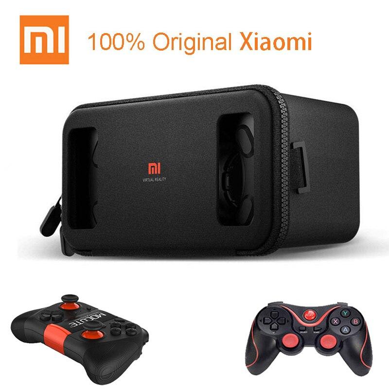 Оригинальные 3d-очки виртуальной реальности Xiaomi VR Play для телефона 4,7-5,7 дюймов, гарнитура Xiaomi Mi VR Play 2 с игровым контроллером для кинотеатра