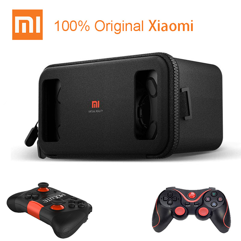 Original Xiaomi VR Play Virtual Reality 3D Glasses for 4.7- 5.7 Phone Headset Xiaomi Mi VR Play2 With Cinema Game Controller