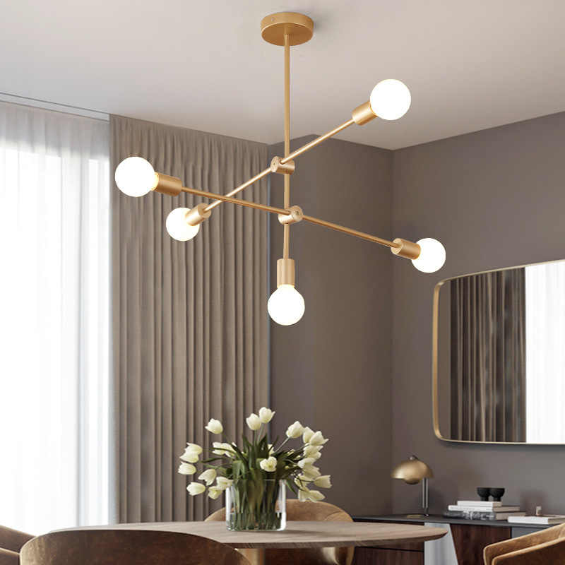 LED Pendant Light Modern Black gold Hanging lighting For Bedroom Living Room AC E27 Indoor Lights Lamp Restaurant Illumination