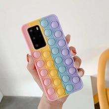 Rever – coque de téléphone portable anti-Stress Pop, étui souple en Silicone pour Samsung Galaxy A02S A32 A52 A72 5G A71 A51 S21 Ultra Plus S20 FE Note 20