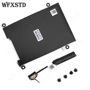 NEW HDD Cable 80RK8 + Caddy Frame Bracket 0NDT6 For Dell Latitude 5480 5490 5491 Laptop Drive Bay Hard Drive caddy
