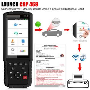 Image 4 - Launch X431 CRP469 Wifi OBD2 Automotive Scanner Epb Tpms Abs Ets Dpf Immo Olie Reset Obd 2 Code Reader Launch auto Diagnostic Tool