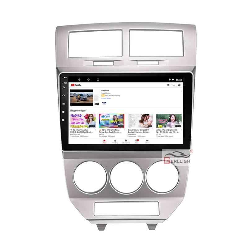 10.1 Inch Android Mobil USB Multimedia Video Audio GPS Radius FM Bt DVD Gps Navigasi Pemain untuk Dodge Caliber 2013 2014