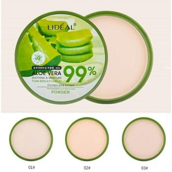 Face Makeup Natural Aloe Vera Powder Foundation Matte Moisturizing Smooth Pressed Powder Foundation Concealer Pores Cover Powder