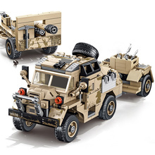 464pcs Military Weapon Tractor Model Building Block Compatible Army Truck soldier Figure Educational DIY Brick Toy for Children цена 2017