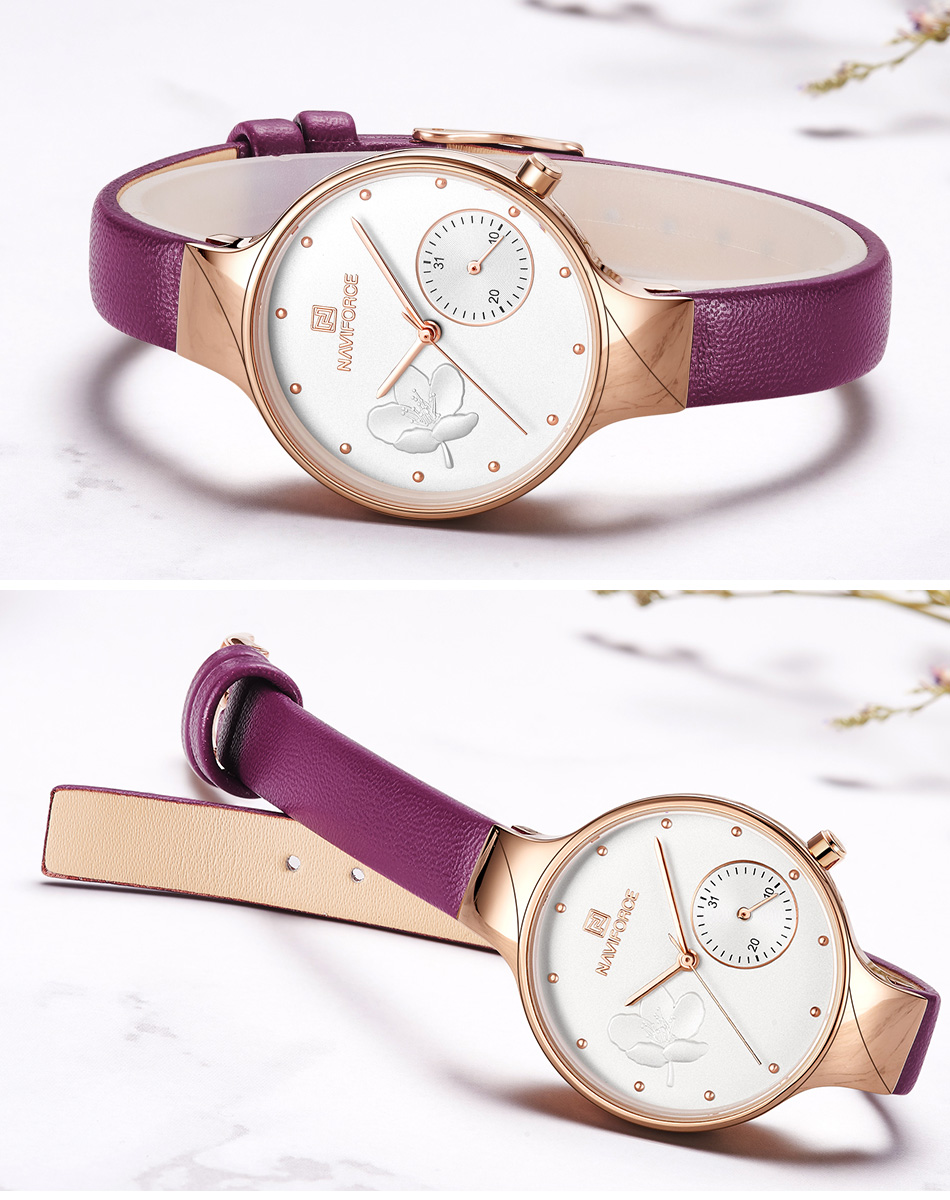 NAVIFORCE Women Watches Top Luxury Brand Ladies Fashion Simple Quartz Female Waterproof Watch Lady Casual Clock Relogio Feminino