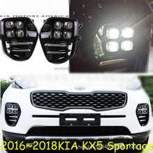 цена на For KIA Sportage QL kx5 2016 2017 2018 LED Fog Light Lamp Daytime Running Light Set Auto Car White LED DRL Light For KIA KX5
