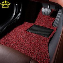 Extra PVC pile for car mats Customized according to each model Easy to clean for car kia rio 3 mazda cx-5 ford fusion camry 40 cheap ROWNFUR Synthetic Fiber According to the model Wire Mat Mats Carpets black red-black brown