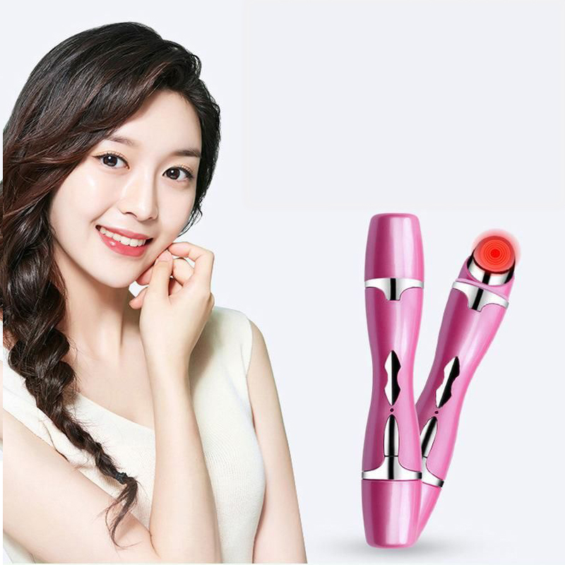 Portable Eye Massager Remove Dark Eyes Anti Wrinkles Heating Face Massager Electric Vibration Relief Face Lifting Whitening Pen