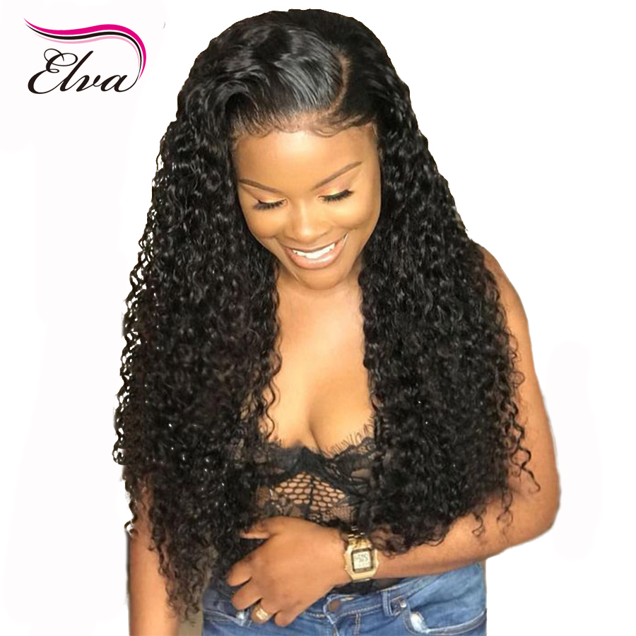 Elva Hair 13x6 Lace Front Human Hair Wigs With Baby Hair Pre Plucked Glueless Curly Lace Wig For Black Women Brazilian Remy Hair