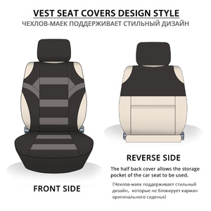 Image 4 - 2 Pieces Set T Shirt Design Front Car Seat Cover Universal Fit Car Care Coves Seat Protector for Car Seats Polyester Fabric