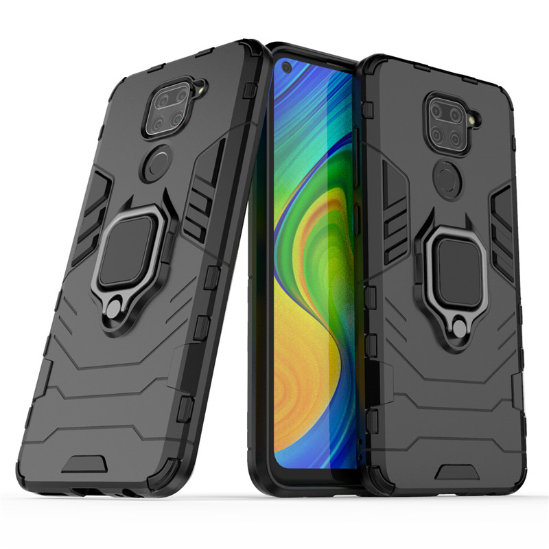 Shockproof Bumper For Xiaomi Redmi Note 9 Case Soft Silicon Armor Hard PC Stand Protective Phone Cover For Xiaomi Redmi Note 9|Fitted Cases|   - AliExpress