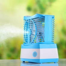 70Ml Portable Air Humidifier Mini Air Conditioner Usb Water Mist Fan Cooler Air Cooling Fan for Home Office ultrasonic humidifier fan 2000ma battery usb rechargeable mini water mist fan portable adjustable table fan for home office