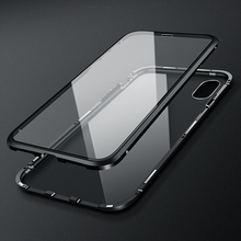 Luxury 360 Full Body Protective Magnetic Transparent Cover For iPhone XS Max X 8 7 8Plus iPhone-7-8-X Case Glass Armor