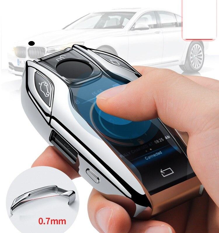 TPU чехол для автомобиля полностью ключ чехол светодиодный Дисплей ключ крышка чехол для BMW 5 7 серии G11 G12 G30 G31 G32 i8 I12 I15 G01 X3 G02 X4 G05 X5 G07 X7