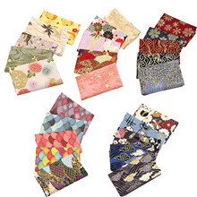 5PCS 20*25cm Pure Cotton Patchwork Cloth Japanese Bronzing Sewing Fabric Small Floral Handmade DIY Cotton Cloth Sewing Fabric