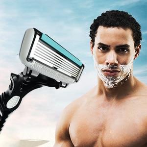 Image 2 - High Quality Dorco Razor Men 9 Pcs/lot 6 Layer Blades Razor for Men Shaving Stainless Steel Safety Razor Blades
