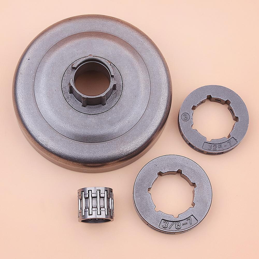 Clutch Drum Sprocket Rim Bearing Kit For Husqvarna 455 460 Rancher Chainsaw 3/8