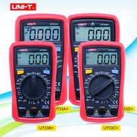 Multímetros digitales de tamaño de palma de la serie UT33 de UNI-T multímetro de mano eléctrico profesional con retención de datos de retroiluminación