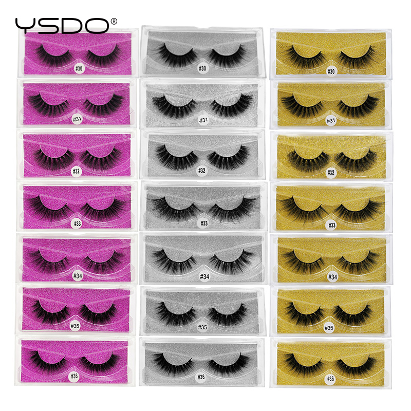 YSDO 1 Pairs Mink Eyelashes Lashes Maquillaje Dramatic Eyelashes Natural False Eyelashes Volume 3d Mink Lashes Makeup Faux Cils
