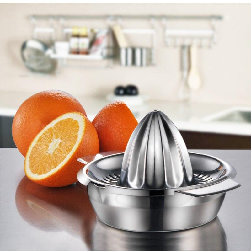 المحمولة الليمون البرتقال دليل عصارة الفواكه 304 الفولاذ المقاوم للصدأ اكسسوارات المطبخ أدوات الحمضيات 100% الخام اليد ضغط عصير صانع