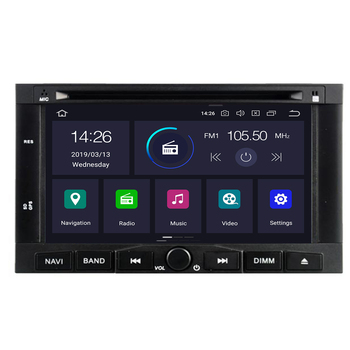 2din Android 10 4+32G Car dvd radio audio Multimedia player for PEUGEOT/Partner 3008 5008 GPS Navigation WIFI BT RDS free map image