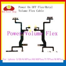 10Pcs/lot Power Flex Cable Replacement for iPhone 6G 6 plus 6s 6 8 plus 7g 7plus X On Off volume Button With Metal Bracket Parts цена и фото