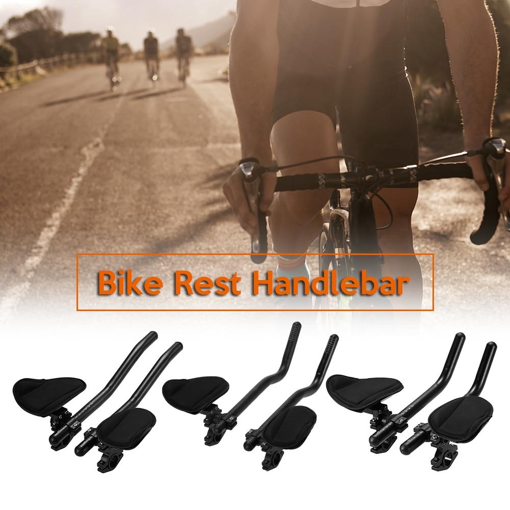 3 Type Bicycle Rest Handlebar Cycling Lightweight Bike Relaxation Handle Bar Triathlon MTB Road Arm Rest Bar Bike Aerobar(China)