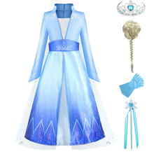 Elsa Dress For Girls Elsa Party Princess Dress Baby Girls Clothing Anna Elsa 2 Costumes Cosplay Elza Vestidos Hair Accessory Set