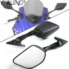 Lateral de motocicleta espejos para Yamaha YZF R25 R15 R3 YZF R3 YZF R25 YZF R15 YZFR3 YZFR15 YZFR25 espejos espejo retrovisor de carbono