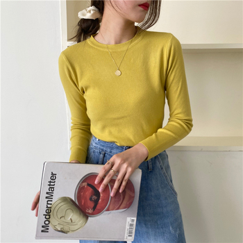 Autumn Classic Basic O-neck Sweater Jumpers for Women Female Solid Knitted Pullovers Ladies Casual Slim Knitwear vs460 casual basic turtleneck sweater women knitted pullovers ladies solid sweater jumpers autumn female knitting tops jk153