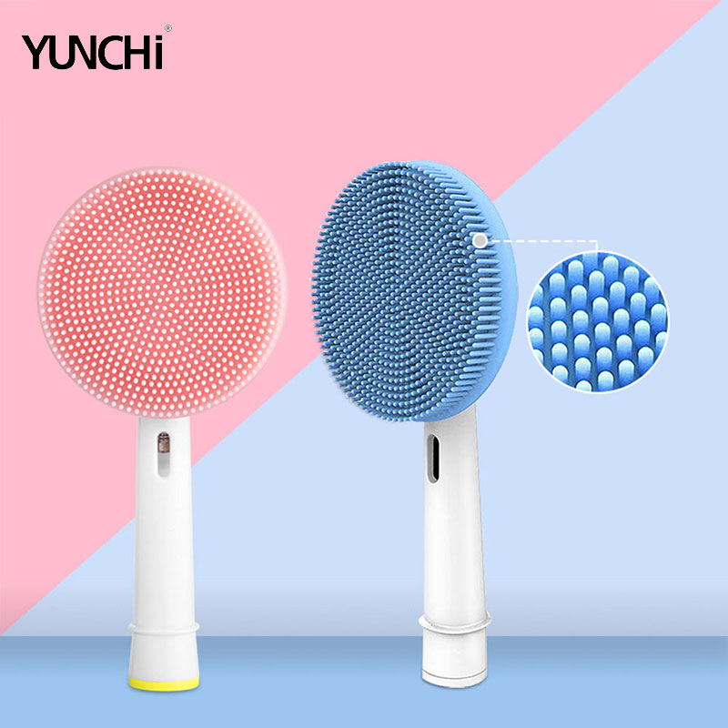 Facial Cleansing Brush Head Suitable For Oral-B Electric Toothbrush Handle Facial Massager and Cleanser Brush Heads image