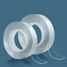 Cinta adhesiva multifunción de acrílico Nano Magic, cinta reutilizable de doble cara, fuerte, adhesiva, cinta de agarre de Gel, triangulación de envío