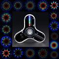 Kit eletrônico diy fingertip giroscópio kit de fabricação led diversão soldagem diy kit rg550