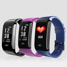CK18S Smart Heart Rate Bracelet Men Sport Watch wristband Fitness Tracker rate Blood Pressure Trackers
