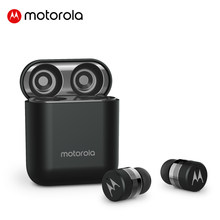 Motorola Drahtlose Bluetooth 5,0 Kopfhörer 12H Batterie Lebensdauer Touch Control Mic Ohrhörer Dynamischen Stimme Assistent Original V110