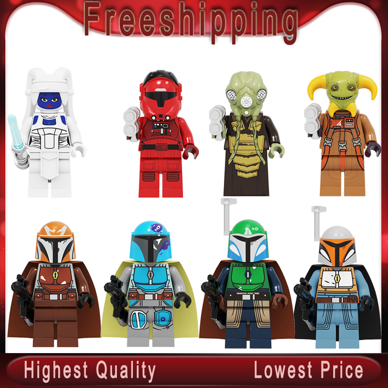 Legoed Star Wars Building Blocks Zakus Bounty Hunter Ella Secure Bai Li Mandalorian Action Figures Toys Children Gifts PG8282
