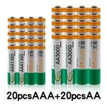 Nowe akumulatory 1.2 V AA 3000mAh NI-MH + bateria AAA 1350 mAh akumulator NI-MH 1.2 V AAA