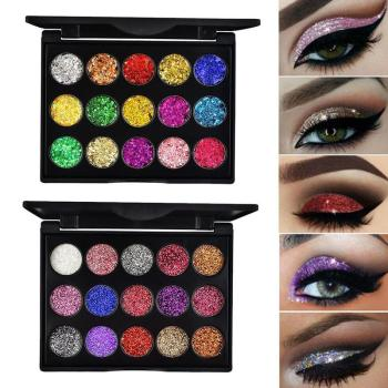 15 Colors Glitter Eyeshadow Makeup Pallete Matte Eye Shadow Palette Shine Diamond Eyeshadow Powder Pigment Kit