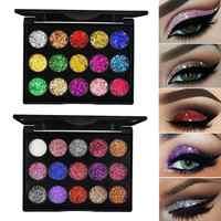 15 Colors Glitter Eyeshadow Makeup Pallete Matte Eye Shadow Palette Shine Diamond Eyeshadow Powder Pigment Kit