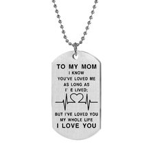 2020 Mother's Day gift stainless steel tag necklace TO MY MOM letter military brand pendant jewelry factory direct sales(China)