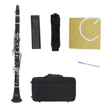 IRIN IN560 Clarinet bB Key Bakelite Woodwind Instruments With Cleaning Cloth Reed Clip Screwdriver Strap Music Instruments yibuy black nickel plated 17 key bb clarinet with cleaning cloth gloves case