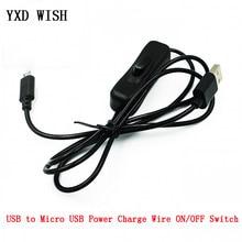 1 м блок питания Micro USB кабель зарядного устройства 1 м провод с переключателем вкл/выкл кабель для Raspberry Pi