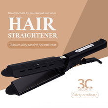 Steam Flat Hair Straightener Iron Four-Gear temperature adjustment Tourmaline Ceramic Iron Professional Hair Straightener