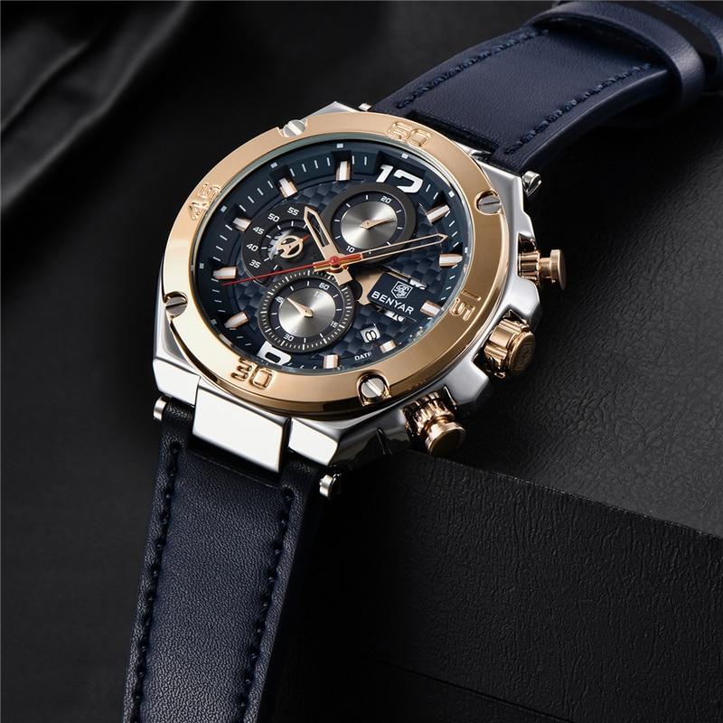 Image 5 - BENYAR 2019 New quartz men's watches Multifunction sport chronograph watch men top luxury brand wrist watch Relogio Masculino-in Quartz Watches from Watches