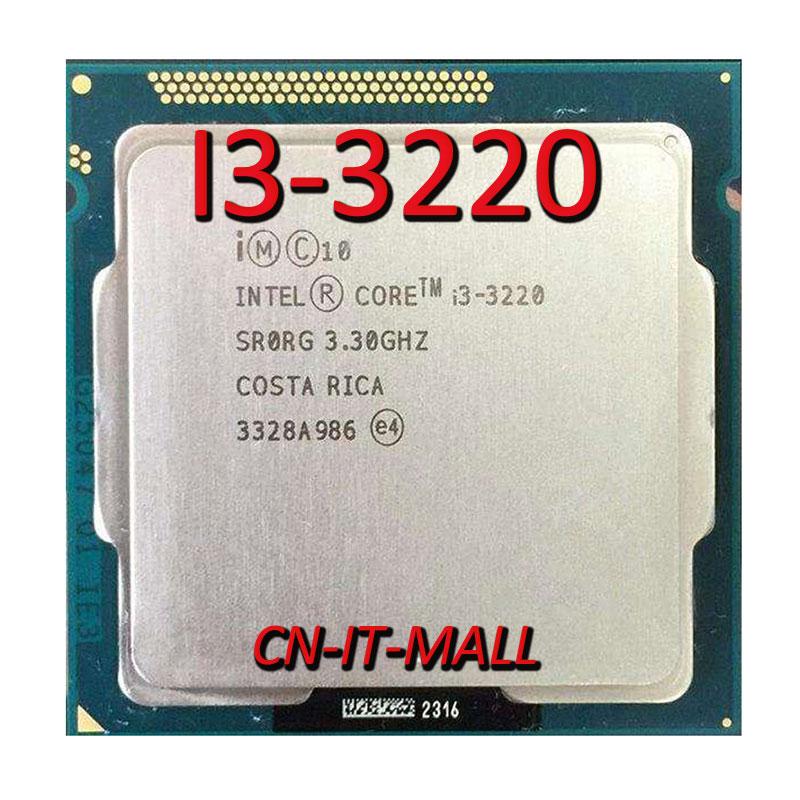 Intel Core I3-3220 CPU 3.3GHz 3MB Cache 2 Cores 4 Threads LGA1155 Processor